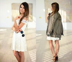 Lace dress & parka Mariannan