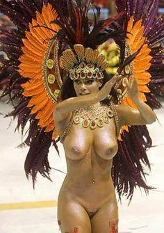 Scandal in Rio: naked dancer.