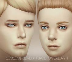 My Sims 4 Blog: Simsimi Face Overlay 1 (Deep/Light)