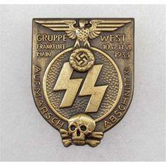 GERMAN NAZI SS 1933 GRUPPE FRANKFURT BADGE https://www.pinterest.com/pin/486107353509546775/
