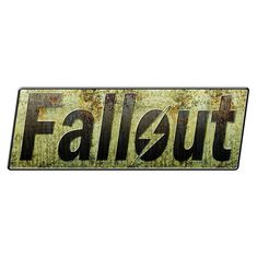 Fallout - gamebook nightcache (Unknown Cache) in Liberecky kraj, Czech Republic created by JeDie Fallout Logo, Fallout Theme, Fallout Art, Video Game Logos, Video Games, Vault Dweller, Post Apocalyptic Art, Font Generator, High Art