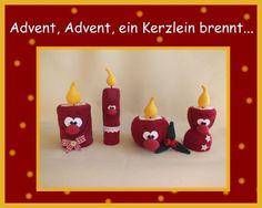 """Häkelanleitung+""""Advent,+ein+Kerzlein+brennt""""+van+Babsie´s+Hook+op+DaWanda.com"""