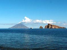 Smoking Stromboli volcano seen from Panarea island, Italy (Photo: Janka)