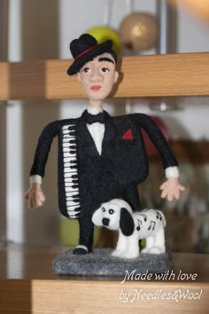 SOFT SCULPTURE INTERIOR art doll The Piano Man.
