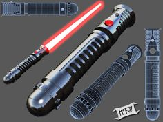 This one brought up a few questions at the 3dtotal.com forums. A few people were trying to figure out who Lightsaber this belonged to. Heh... I modelled it after the spoon I got in a box of Apple J...