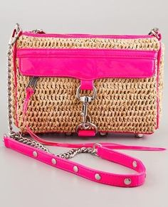 Rebecca Minkoff Straw with Neon Mini MAC