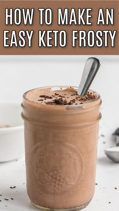 Low Carb Deserts, Low Carb Sweets, Sugar Free Desserts, Healthy Desserts, Iced Coffee Protein Shake Recipe, Comida Keto, Decadent Food, Low Carb Drinks, No Carb Recipes