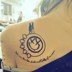 Blink 182 and Nightmare Before Christmas mashup tattoo. :)