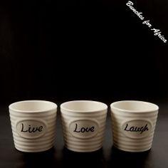 Ceramic Live/Love/Laugh  OnlineShop - www.bunchesforafrica.com
