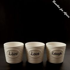 Ceramic Live/Love/Laugh  OnlineShop - www.bunchesforafrica.com