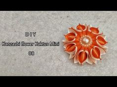 DIY ll Tutorial bros kaktus mini II kanzashi flower II Handmade Hokky Craft Jogjakarta 08 - YouTube