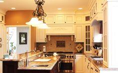 white kitchen with center island