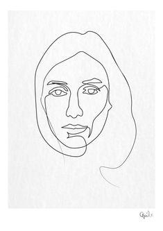 One line anais Face Line Drawing, Single Line Drawing, Contour Drawing, Continuous Line Drawing, Art Visage, Wire Art, Art Inspo, Art Drawings, Illustration Art