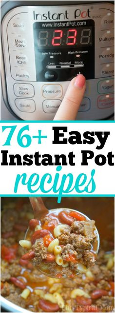 Easy Instant Pot recipes that are simple and delicious! 76 simple meals, soups, side dishes, and vegetables we've made in our Instant Pot and continue to make day after day. Whether you're new or an expert we've got something new to try, even Instant Pot desserts you'll love! #instantpot #pressurecooker #simple #easy #recipes #dinner #dessert #vegetable #sidedish  via @thetypicalmom