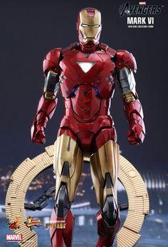 Marvel iron man mark vi sixth scale figure by hot toys Iron Man Fan Art, New Iron Man, Marvel Comic Universe, Marvel Cinematic Universe, Batman Universe, Tony Stark, Hulk Movie, Hot Toys Iron Man, Iron Man Avengers