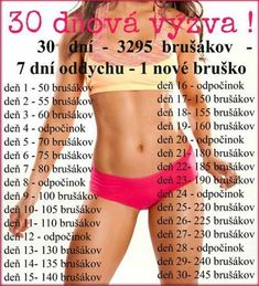 【Cviky a Rady 】 - 30 Denní Výzva 📆 - Wattpad Body Fitness, Fitness Tips, Fitness Motivation, Health Fitness, 30 Day Challenge, Workout Challenge, Nova, Stretching Exercises, Training Plan
