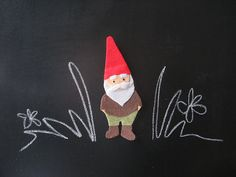 Gnome applique.  Absolutely perfect.