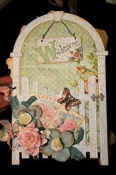 Kit available. Shabby Raw Chipboard Garden Gate Mini Scrapbook Album Chic CM11 | eBay