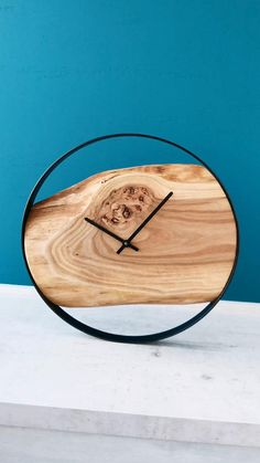 Unique Wooden Wall Clock will look stylish on your wall, perfect Farmhouse decor for any room, living room, kitchen room, office, workshop. #woodwallclock #liveedgewoodslab #clocksforwall #farmhousewallclock #farmhousewalldecor #kitchenwallclock #bigclock #farmhouseclock #hangingclock #kitchenclock #largewallclock #liveedgeclock #minimalistclock #modernwallclock #modernwoodclock #rusticwallclock #rusticwoodclock #uniquewallclock #livingroomdesign #woodenclock #woodenwallclock #farmhousehomedecor Unique Wall Clocks, Wood Clocks, Kitchen Wall Clocks, Room Kitchen, Minimalist Clocks, Hanging Clock, Country House Interior, Modern Clock, Farmhouse Wall Decor