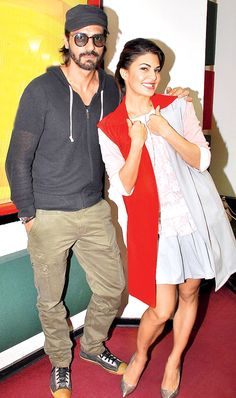 Arjun Rampal and Jacqueline Fernandez promote 'Roy' at a Jewellery store. #Bollywood #Fashion #Style #Beauty