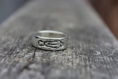 Sterling silver band with Rhodesian Ridgeback by SisuBeads on Etsy