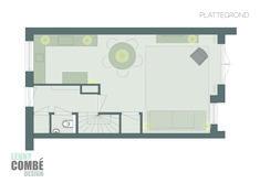 Plattegrond interieurontwerp   Arnhem Floor Plans, Interior Design, Nest Design, Home Interior Design, Interior Designing, Home Decor, Interiors, Floor Plan Drawing, House Floor Plans
