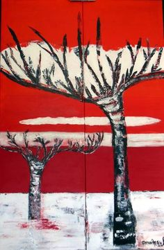 "Saatchi Art Artist marleen becks; Painting, """"Trees"""" #art"