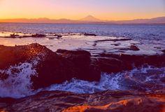 Sea of dusk and Mt. Fuji No'1