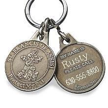 saint francis dog tags