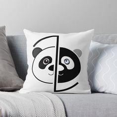 Panda Head, Color Change, Original Art, Cushions, Throw Pillows, Art Prints, Printed, Awesome, Artist