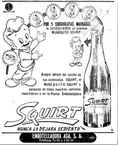 1956 - Refrescos Squirt  Anuncio publicado en el Informador Guadalajara, Jalisco México