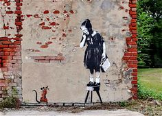 "Banksy is one of my favorite artists. Most people think ""street art"" and immediately think grafitti. But Banksy's work is just fantastic and creative."