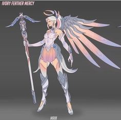 I want this as a skin, , Overwatch, Overwatch I want this as a skin Source by SPARKCOSPLAY I want this as a skin. Fantasy Character Design, Character Concept, Character Inspiration, Character Art, Concept Art, Overwatch Mercy, Overwatch Drawings, Overwatch Fan Art, Overwatch Skin Concepts