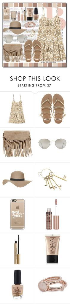 """""""Dress and hat"""" by ana-a-m ❤ liked on Polyvore featuring ASOS, Accessorize, Forever 21, Topshop, Casetify, NYX, Elizabeth Arden, NARS Cosmetics, OPI and Lola Rose"""
