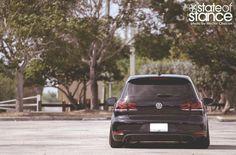 Black VW GTI MK6 by State of Stance