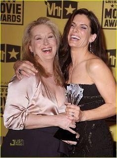 With Sandra Bullock