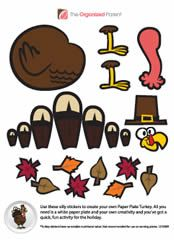 FREE Paper Plate Turkey Stickers on http://www.icravefreebies.com/