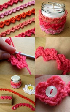 Heart Strings - quick and easy free 2 row pattern to make decorations and bracelets