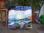 Linda Reed Beach Garden Mosaic absolutearts.com