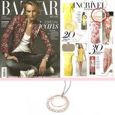 BRUMANI at Harper's Bazaar!!! #brumani #hb #harpersbazzar #hbazaar #gold #jewel #trend #fashion #necklace #diamond #quartz #chain #long #loopingshine #circle #jewelry #glamour #luxury #musthave #lookoftheday #instafashion #instajewelry #chic