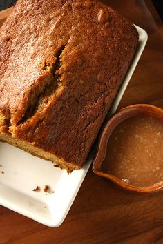 Bobby Flay's Pumpkin Bread with Spicy Caramel Apple Sauce