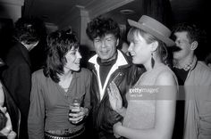 Joan Jett with Gary Glitter at the aftershow party for her performance at Hamersmith Apollo