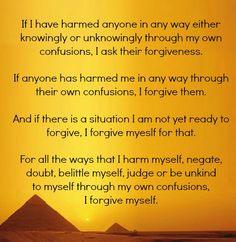 Buddhist prayer of forgiveness.