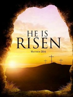 """he has risen, just as he said. Come and see the place where he lay"""" (Mathew Resurrection Quotes, Happy Resurrection Sunday, Jesus Has Risen, He Is Risen, Jesus Loves, I Need Jesus, Jesus Is Lord, Good Friday Images, Spirituality"""