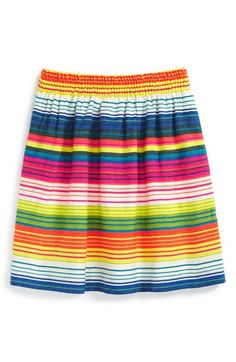 Peek 'Chica' Stripe Skirt (Toddler Girls, Little Girls & Big Girls) available at #Nordstrom