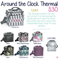 Around the Clock Thermal by Thirty-One. Fall/Winter 2015.