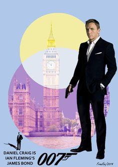 Bond Art by Frankie #danielcraig #jamesbond #007