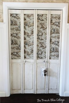 Prettifying My Plain Bifold Doors French Blue Cottage Best Picture For french doors privacy For Your Taste You are looking for something, and it is go French Doors Bedroom, French Door Curtains, Diy Curtains, Master Bedroom, Laundry Room Doors, Closet Doors, Entryway Closet, Laundry Closet, Louvered Bifold Doors