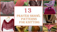 13 Prayer Shawl Patterns for Knitting from @AllFreeKnitting