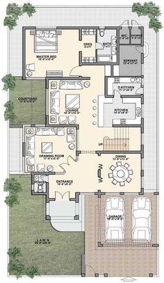 Small Modern House Plans, Modern Exterior House Designs, Modern Small House Design, Modern House Facades, House Plans Mansion, Duplex House Plans, New House Plans, Dream House Plans, Bungalow Floor Plans